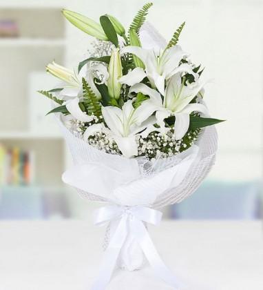 Beyaz Lilyum Buketi